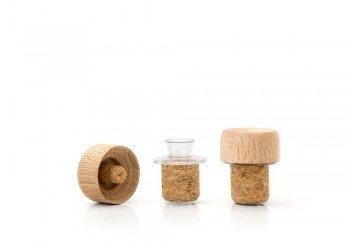 tapon con tapa madera para frasca 250ml