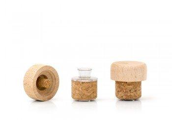 tapon con tapa madera para frasca 500ml