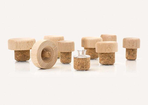 vertedores con tapa madera